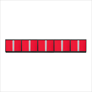 5 x PRO 3.0 Series Red Wall Cabinets