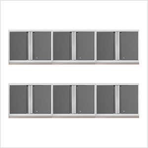 6 x PRO 3.0 Series White Wall Cabinets