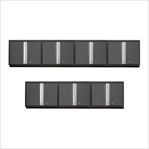 7 x PRO 3.0 Series Grey Wall Cabinets