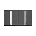 NewAge Garage Cabinets 2 x PRO 3.0 Series Grey Tall Wall Cabinets