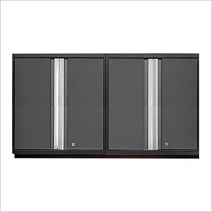 2 x PRO 3.0 Series Grey Tall Wall Cabinets