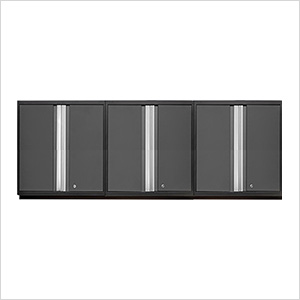 3 x PRO 3.0 Series Grey Tall Wall Cabinets
