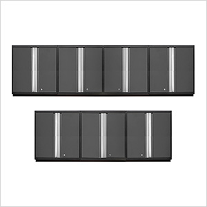 7 x PRO 3.0 Series Grey Tall Wall Cabinets