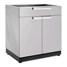 NewAge Outdoor Kitchens Stainless Steel 2-Door with Drawer Cabinet