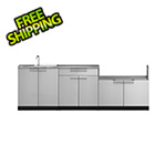NewAge Outdoor Kitchens Stainless Steel 4-Piece Outdoor Kitchen Set with Countertops and Covers
