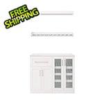 NewAge Home Bar White 5-Piece Cabinet Set