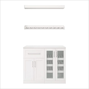 White 5-Piece Cabinet Set - 21""