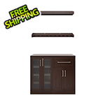 NewAge Home Bar Espresso 5-Piece Cabinet Set - 21""