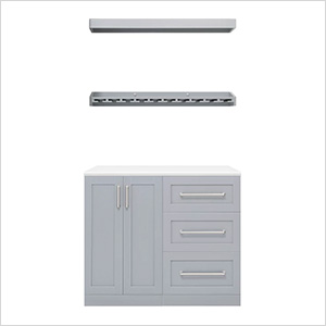 Grey 5-Piece Cabinet Set - 21""