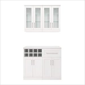 """White 5-Piece Cabinet Set - 21"""""""