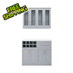 NewAge Home Bar Grey 5-Piece Cabinet Set - 21""