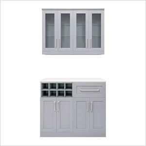 "Grey 5-Piece Cabinet Set - 21"""