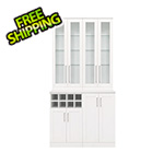 NewAge Home Bar White 5-Piece Cabinet Set - 21""
