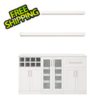 NewAge Home Bar White 6-Piece Cabinet Set - 21""