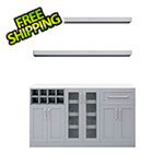NewAge Home Bar Grey 6-Piece Cabinet Set - 21""