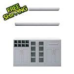 "NewAge Home Bar Grey 6-Piece Cabinet Set - 21"""