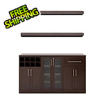 NewAge Home Bar Espresso 6-Piece Cabinet Set - 21""