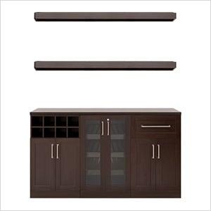 "Espresso 6-Piece Cabinet Set - 21"""