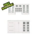 NewAge Home Bar White 7-Piece Cabinet Set - 21""