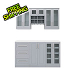 NewAge Home Bar Grey 7-Piece Cabinet Set - 21""