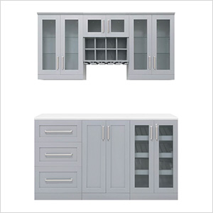 Grey 7-Piece Cabinet Set - 21""