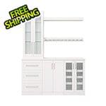NewAge Home Bar White 7-Piece Cabinet Set