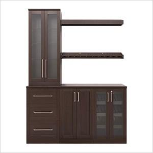 "Espresso 7-Piece Cabinet Set - 21"""