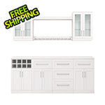 NewAge Home Bar White 9-Piece Cabinet Set - 21""