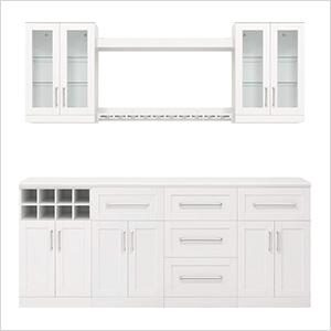 """White 9-Piece Cabinet Set - 21"""""""