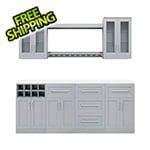 "NewAge Home Bar Grey 9-Piece Cabinet Set - 21"""