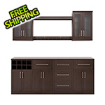 NewAge Home Bar Espresso 9-Piece Cabinet Set - 21""