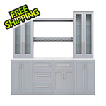 NewAge Home Bar Grey 9-Piece Cabinet Set - 21""