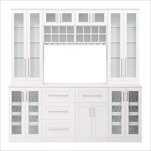 White 9-Piece Cabinet Set - 21""