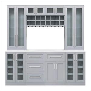 "Grey 9-Piece Cabinet Set - 21"""