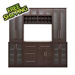 "NewAge Home Bar Espresso 9-Piece Cabinet Set - 21"""