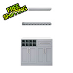 "NewAge Home Bar Grey 5-Piece Cabinet Set - 21"""