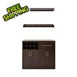 "NewAge Home Bar Espresso 5-Piece Cabinet Set - 21"""