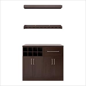 "Espresso 5-Piece Cabinet Set - 21"""