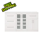 NewAge Home Bar White 4-Piece Cabinet Set - 21""