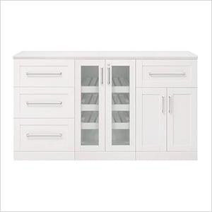 """White 4-Piece Cabinet Set - 21"""""""