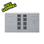 NewAge Home Bar Grey 4-Piece Cabinet Set - 21""