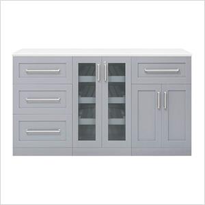 "Grey 4-Piece Cabinet Set - 21"""