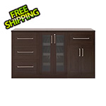 NewAge Home Bar Espresso 4-Piece Cabinet Set - 21""