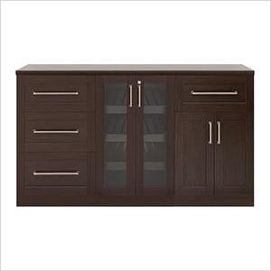 "Espresso 4-Piece Cabinet Set - 21"""