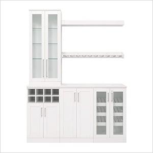 """White 7-Piece Cabinet Set - 21"""""""
