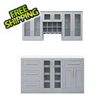 "NewAge Home Bar Grey 7-Piece Cabinet Set - 21"""