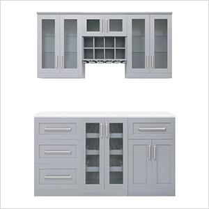 "Grey 7-Piece Cabinet Set - 21"""