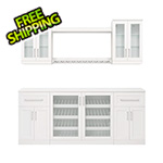 NewAge Home Bar White 8-Piece Cabinet Set - 21""