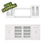 "NewAge Home Bar White 8-Piece Cabinet Set - 21"""