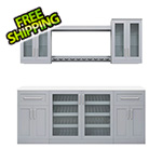 NewAge Home Bar Grey 8-Piece Cabinet Set - 21""